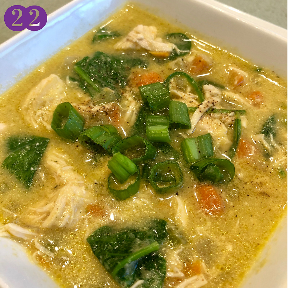 Whole30 Day Twenty-Two:  Creamy Chicken Soup (No Dairy)