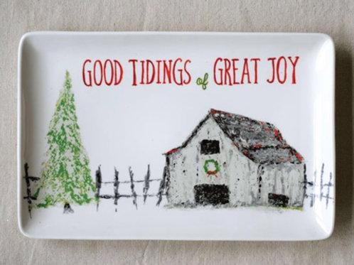 """Good Tidings & Great Joy"" Serving Plate"