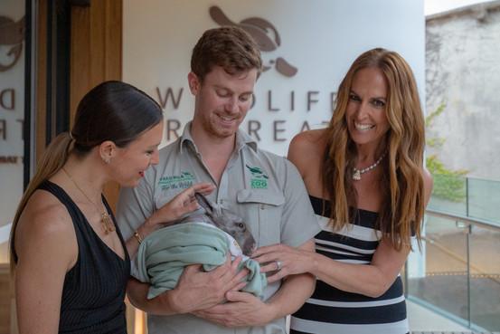 Tash Sefton and Liesel Peterson wombat -