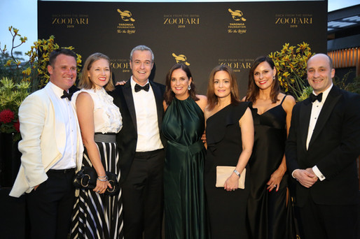 Dom and Justin Hind, Priscilla and Stefan Schonell, Harriet and Bill Halmarick - Zoofari Gala 2019