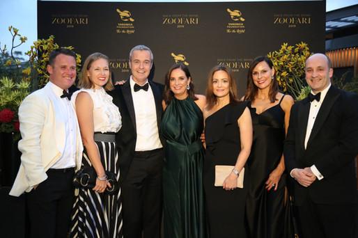 Dom and Justin Hind, Priscilla and Stefan Schonell, Harriet and Bill Halmarick - Zoofari Gala 2019