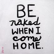 In my nudeness