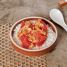 Slow Cooked Tomato with Egg Rice|番茄煮蛋飯