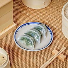 Crystal Shrimp & Baby Shoots Dumplings 鮮蝦菜苗餃