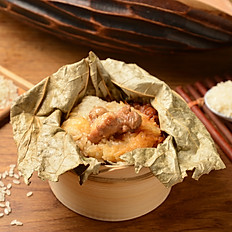 Glutinous Rice Chicken in Lotus Leaf 荷葉珍珠雞