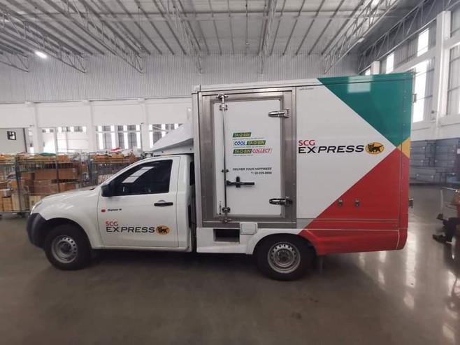 รถห้องเย็นโดยบริษัทขนส่ง SCG Express