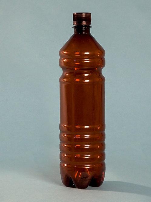 Бутылка ПЭТ  1 литр коричневая