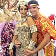 Camila Salamanca e Julian Castro - Rei e Rainha do Carnaval de Catanduva no ano de 2009.
