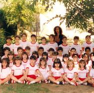 Alunos do Pré do Colégio Nossa Senhora do Calvário - Colegião - Tia Néia - 1990.