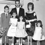 Antonio do Espírito Santo, Zenaide Hernandez do Espírito Santo e os filhos Francisco (Quico), Ângela, Marta e Ana Helena (Leca).