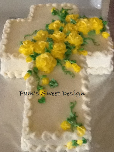 Easter Cross Decorated Cake