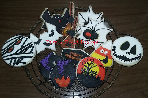 "Halloween Decorated Cookie 3"", 4"" & 3-D"