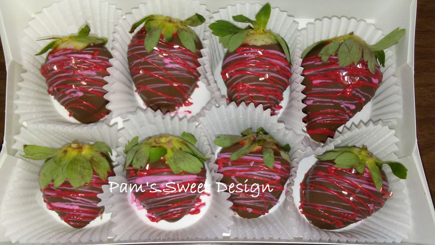 Chocolate covered valentine strawberries