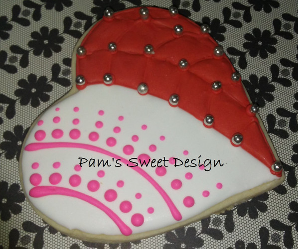 Valentine Heart Decorated Cookie