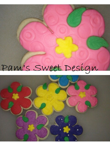 Flower  Fondant Decorated Cookie