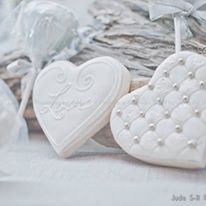 "Wedding Decorated Cookie 3"", 4"" & 3-D"