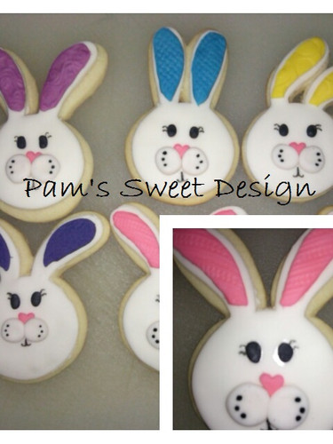 Bunnie Fondant Easter Decorated Cookie