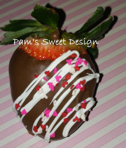 Chocolate dipped valentine strawberries