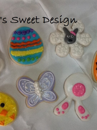 Easter Decorated Cookies Bunnie, Egg, Chick, Butterfly, Bunnie Butt, Carrot, Sheep