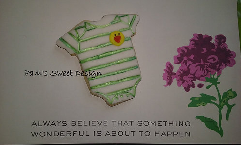 """Baby Decorated Cookie 3"""", 4"""" & 3-D"""