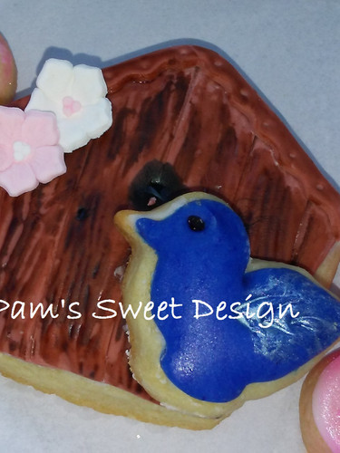 Bird House Decorated Cookie