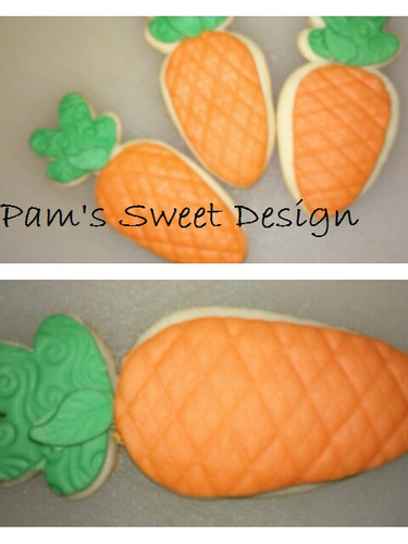 Easter Carrot Fondant Decorated Cookie