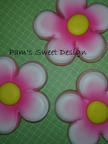 Flower Air Brushed Decorated Cookie