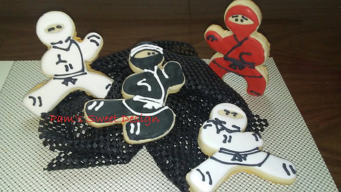 """Boy Decorated Cookie 3"""", 4"""" & 3-D Decorated Cookie"""