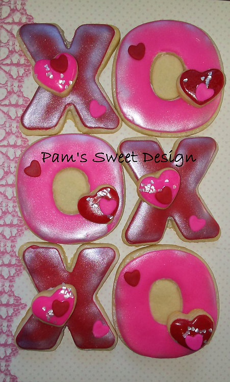 """Valentines Decorated Cookie 3"""", 4"""" & 3-D"""