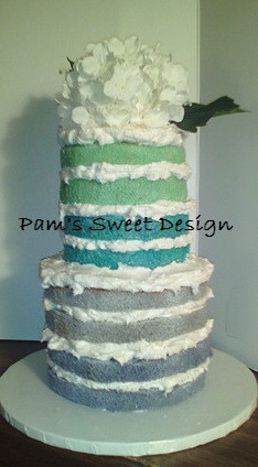 Wedding Cake: Ombre naked cake