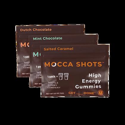 Mocca Shots Caffeine Gummy Sample Pack