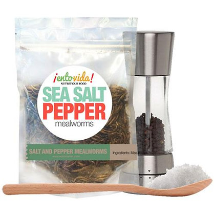 Sea Salt & Pepper Flavored Whole Roasted Mealworms