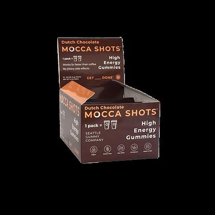 Mocca Shots Dutch Chocolate Caffeine Gummy12 Packs Shots 200mg Caffeine/Pack