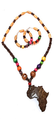 Tribal African Necklace and Earrings Set