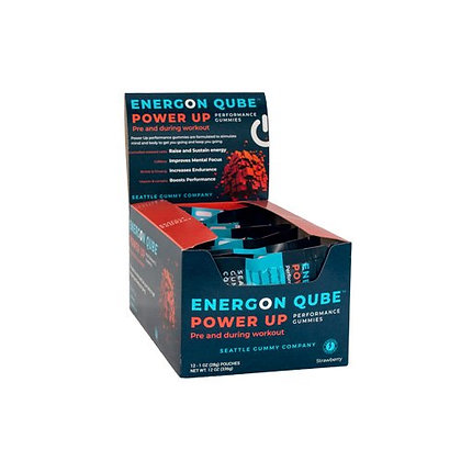 Energon Qube Sports Gummy Power Up Pre-Workout (12-Pack, Strawberry)