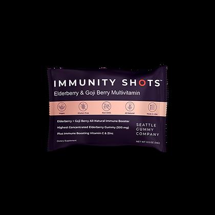 Immunity Shots Elderberry and Goji Berry Multivitamin (12-Pack)