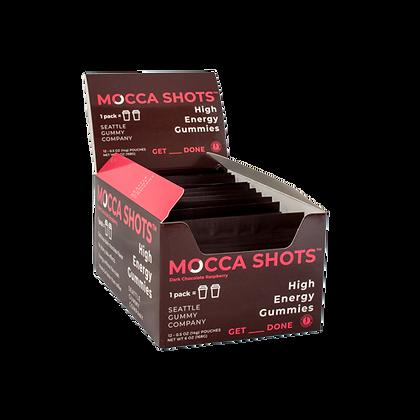Mocca Shots Dark Chocolate Raspberry Caffeine Gummy