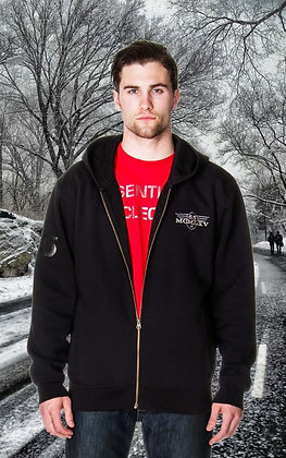 65 McMlxv Men's Fleece Zip Hoodie in Black