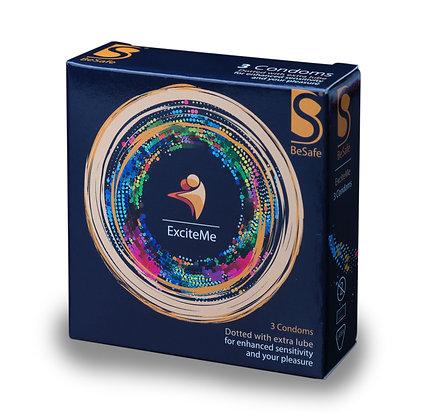 3 BeSafe® ExciteMe Condoms