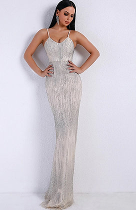 Belluci Silver Evening Gown
