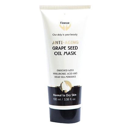 Dead Sea Anti-Aging Grape Seed Oil Mask - Enriched With Hyaluronic Acid