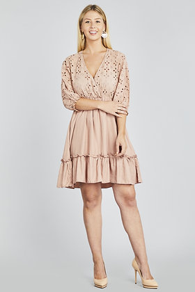 Daisy Lace Ruffle Dress