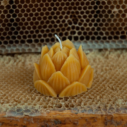 8pcs Natural Beeswax Candles 100% Pure 1lb Total Weight