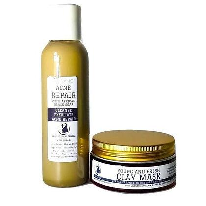 Acne Repair African Black Soap Duo