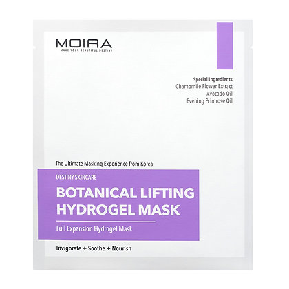 MOIRA Botanical Lifting Hydrogel Mask - Pack of 5