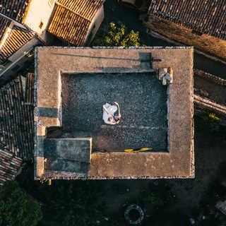 photographie de mariage par drone