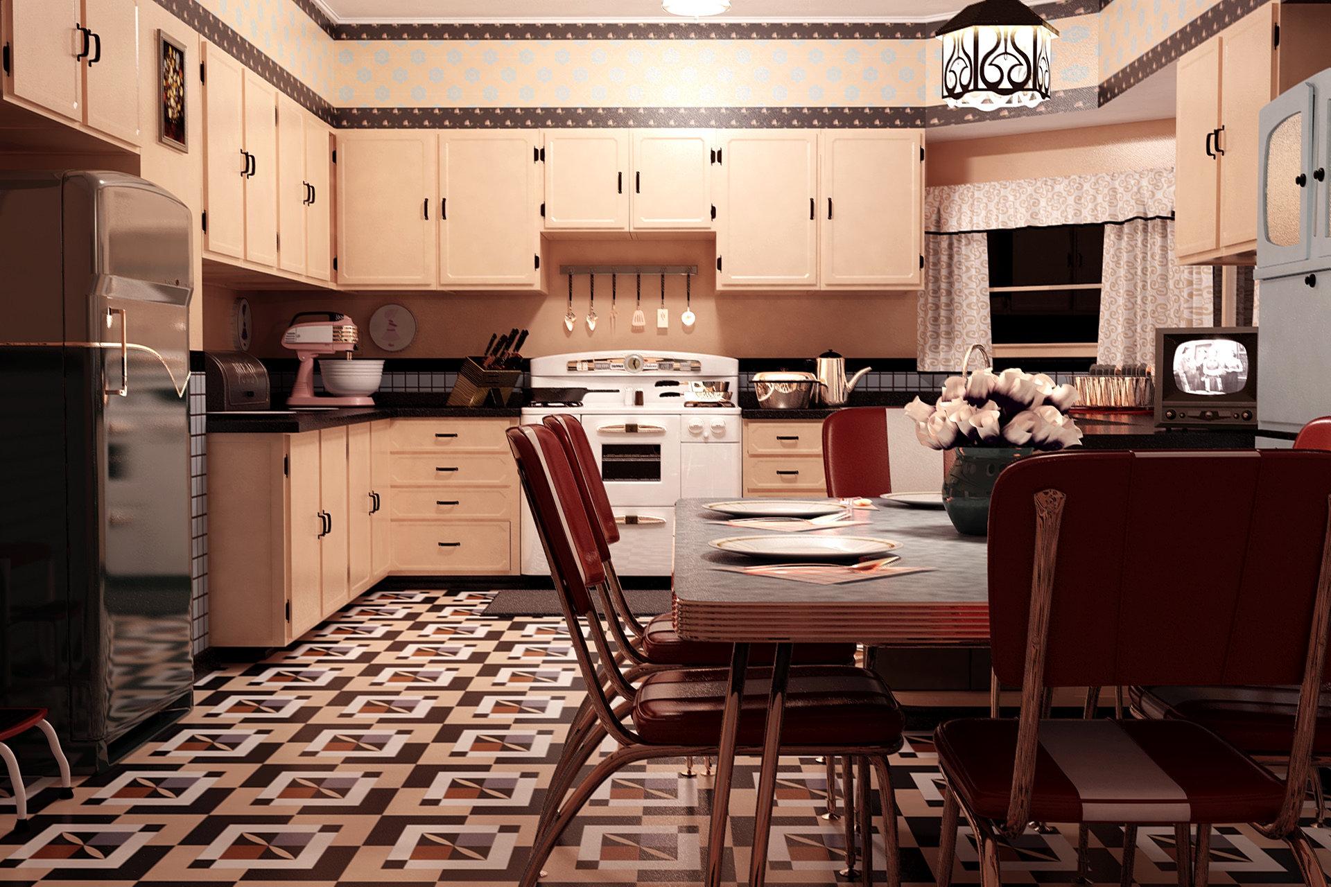 1950 Kitchen Furniture Eddietowns 1950 Kitchen Scene 1