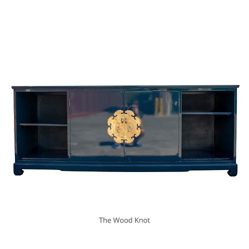 Ming Style Dark Blue Sideboard