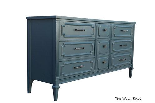 Modern Blue And Pewter Dresser