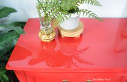 Thomasville furniture, red dresser